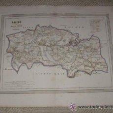 Mapas contemporáneos: MAPA DE TOLEDO POR D.MARTIN FERREIRO. GASPAR Y ROIG EDITORES MADRID. 1864. Lote 39593053