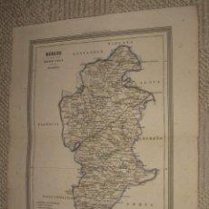 Mappe contemporanee: MAPA DE BURGOS POR D.MARTIN FERREIRO. GASPAR Y ROIG EDITORES MADRID. 1864. Lote 39593130