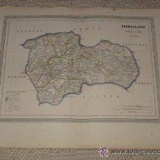 Mapas contemporáneos: MAPA DE GUADALAJARA POR D.MARTIN FERREIRO. GASPAR Y ROIG EDITORES MADRID. 1864. Lote 39593351