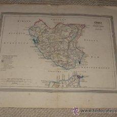 Mapas contemporáneos: MAPA DE CÁDIZ POR D.MARTIN FERREIRO. GASPAR Y ROIG EDITORES MADRID. 1864. Lote 39611761