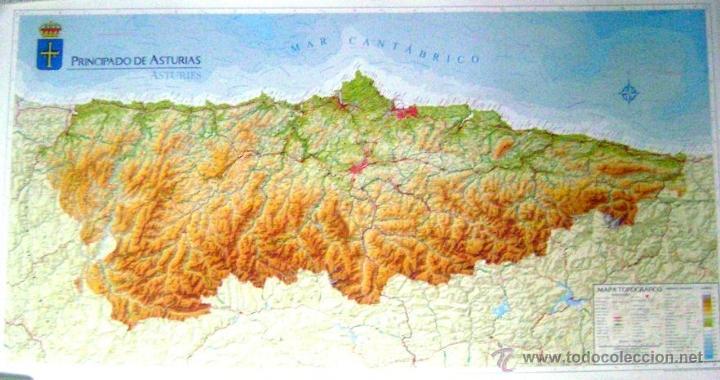 Mapa Grande Principado De Asturias Escala 1 200