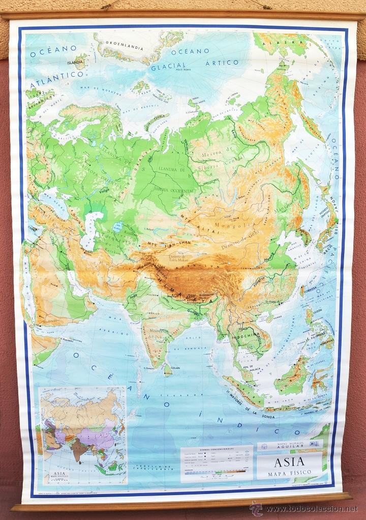 Worksheet. mapa de asia fsico de escuela aos 4050 g  Comprar Mapas