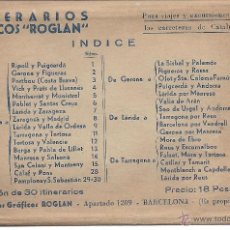 Mapas contemporáneos: COLECCIÓN DE 30 ITINERARIOS PARA RECORRER CATALUÑA. GRÁFICOS ROGLAN. Lote 39733566