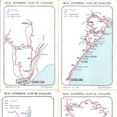 Mapas contemporáneos: COLECCIÓN DE 10 ITINERARIOS PARA CATALUÑA. EDITADOS POR EL REAL AUTOMÓVIL CLUB DE CATALUÑA. Lote 39733652
