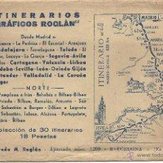 Mapas contemporáneos: COLECCIÓN DE 30 ITINERARIOS PARA VIAJAR ENTRE MADRID Y EL NORTE DE ESPAÑA. GRÁFICOS ROGLAN. Lote 39733724