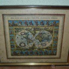 Mapas contemporáneos: LÁMINA ENMARCADA - MAPA MUNDI. Lote 48779894