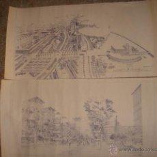 Mapas contemporáneos: PLANO BARCELONA. AVENIDA DEL LITORAL Y DE ICARIA. A.BARCO.P7/P9. 1985. Lote 39747237