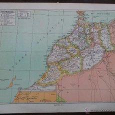 Mapas contemporáneos: MAPA MARRUECOS. ESPASA CALPE AÑOS 50. 31 X 24 CM. Lote 39758768