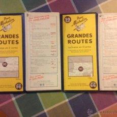 Mapas contemporáneos: 2 MAPAS DE FRANCIA EN 2 CARTAS DEL AÑO 1951.. Lote 40039409