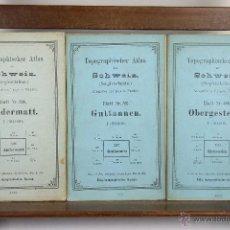 Mapas contemporáneos: 4061- CONJUNTO DE 8 MAPAS DE LOS ALPES SUIZOS. SOHWEIZ. EDIT. LANDESTOPOGRAPHIE. 1894/1905. . Lote 39966381