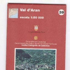 Mapas contemporáneos: VAL D'ARAN - MAPA COMARCAL - GENERALITAT DE CATALUNYA - EL PERIODICO. Lote 40117541