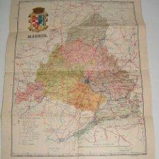 Mapas contemporáneos: ANTIGUO MAPA ENTELADO DE LA PROVINCIA DE MADRID - ED. MARTIN - MIDE 47 X 37 CMS.. Lote 38258794