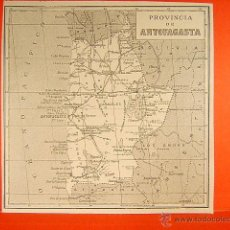 Mapas contemporáneos: ANTOFAGASTA-CHILE-ATACAMA-TARAPACA-BOLIVIA-ARGENTINA-OCEANO PACIFICO-COLUPO-13X13 CM-160-MAPA.... Lote 254789605