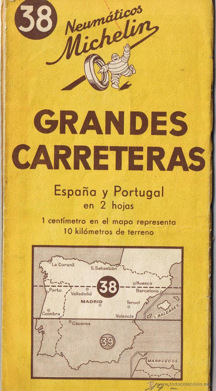 mapa michelin portugal 2013 mapa michelin   grandes carreteras   nº 38   es   Comprar Mapas  mapa michelin portugal 2013