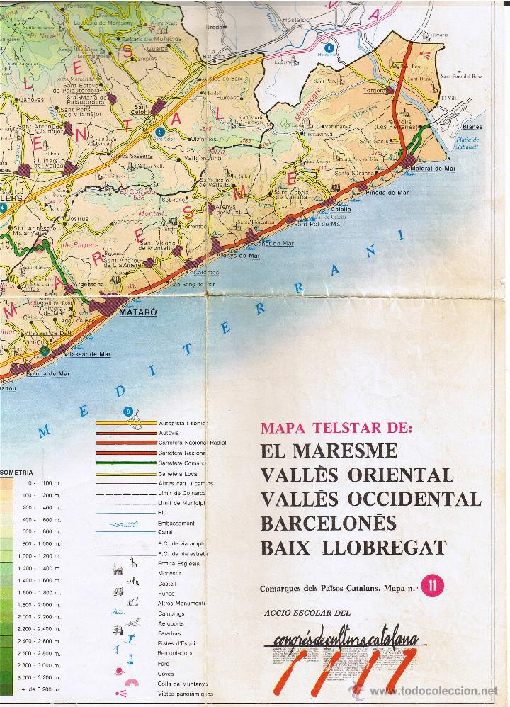 Mapa Telstar Nº 11 Maresme Valles Barcelon Buy Contemporary