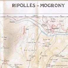 Mapas contemporáneos: MAPA - ATLAS MONTAÑERO - RIPOLLÈS - MOGRONY - . Lote 40658002