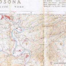 Mapas contemporáneos: MAPA - ATLAS MONTAÑERO - OSONA - SECTOR NORD - FOTO ADICIONAL. Lote 40658011