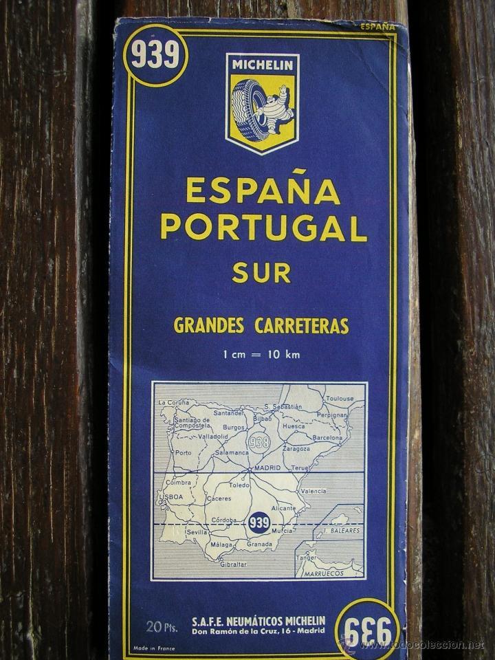 mapa guia michelin espaa portugal sur 939  Comprar Mapas
