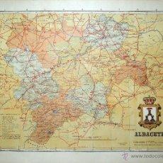 Mapas contemporáneos: MAPA DE ALBACETE, PRINCIPIOS S. XX. Lote 41281343
