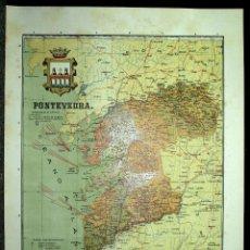 Mapas contemporáneos: MAPA DE PONTEVEDRA, PRINCIPIOS S. XX. Lote 41281579