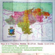 Mapas contemporáneos: 1929. ALFONSO XIII.- MAPA-GUIA DE LA PROVINCIA DE SANTANDER. . Lote 41282412