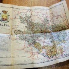 Mapas contemporáneos: MAPA ENTELADO PROVINCIA DE ÁLAVA EDITORIAL MARTÍN AÑOS 50. Lote 41334400