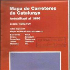 Mapas contemporáneos: +-+ M52 - MAPA DE CARRETARAS DE CATALUNYA - ESCALA 1:280. 000 . Lote 41412622