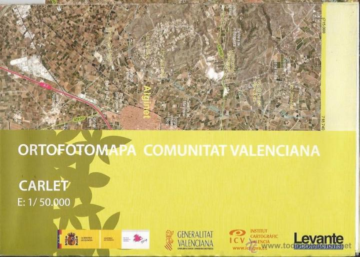 +-+ O01 - ORTOFOTOMAPA COMUNITAT VALENCIANA - E: 1 / 50.000 - CARLET (Coleccionismo - Mapas - Mapas actuales (desde siglo XIX))
