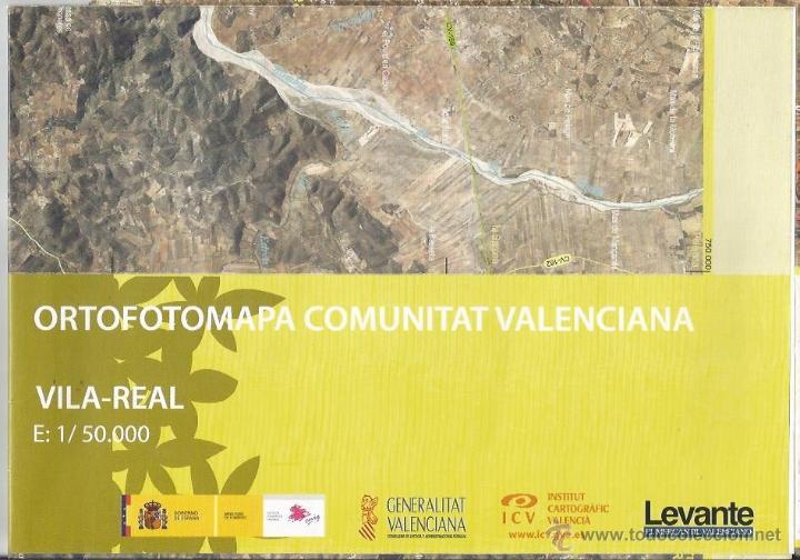 +-+ O09 - ORTOFOTOMAPA COMUNITAT VALENCIANA - E: 1 / 50.000 - VILA-REAL (Coleccionismo - Mapas - Mapas actuales (desde siglo XIX))