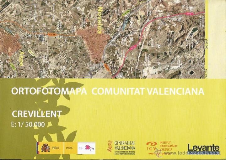 +-+ O15 - ORTOFOTOMAPA COMUNITAT VALENCIANA - E: 1 / 50.000 - CREVILLENT (Coleccionismo - Mapas - Mapas actuales (desde siglo XIX))