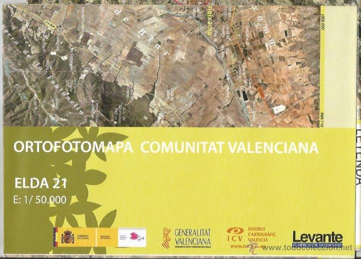 +-+ O21 - ORTOFOTOMAPA COMUNITAT VALENCIANA - E: 1 / 50.000 - ELDA (Coleccionismo - Mapas - Mapas actuales (desde siglo XIX))