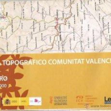 Mapas contemporáneos: +-+ O29 - MAPA TOPOGRAFICO COMUNITAT VALENCIANA - E: 1 / 50.000 - EL TORO. Lote 41478901