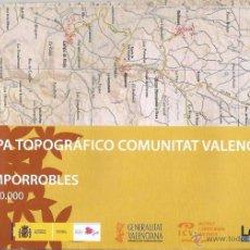 Mapas contemporáneos: +-+ O33 - MAPA TOPOGRAFICO COMUNITAT VALENCIANA - E: 1 / 50.000 - CAMPORROBLES. Lote 41478912