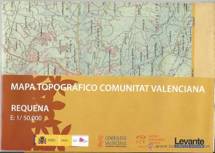 +-+ O35 - MAPA TOPOGRAFICO COMUNITAT VALENCIANA - E: 1 / 50.000 - REQUENA (Coleccionismo - Mapas - Mapas actuales (desde siglo XIX))