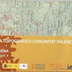 Mapas contemporáneos: +-+ O35 - MAPA TOPOGRAFICO COMUNITAT VALENCIANA - E: 1 / 50.000 - REQUENA. Lote 41478918