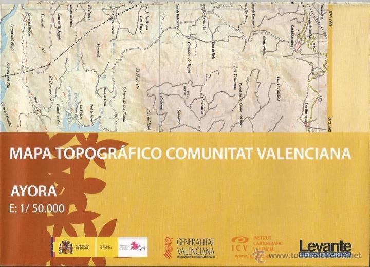 +-+ O39 - MAPA TOPOGRAFICO COMUNITAT VALENCIANA - E: 1 / 50.000 - AYORA (Coleccionismo - Mapas - Mapas actuales (desde siglo XIX))
