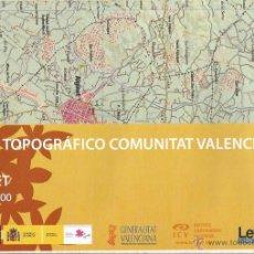 Mapas contemporáneos: +-+ O40 - MAPA TOPOGRAFICO COMUNITAT VALENCIANA - E: 1 / 50.000 - CARLET. Lote 41478944