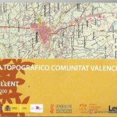 Mapas contemporáneos: +-+ O43 - MAPA TOPOGRAFICO COMUNITAT VALENCIANA - E: 1 / 50.000 - CREVILLENT. Lote 41478965