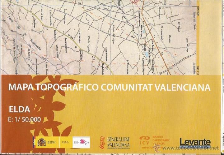 +-+ O46 - MAPA TOPOGRAFICO COMUNITAT VALENCIANA - E: 1 / 50.000 - ELDA (Coleccionismo - Mapas - Mapas actuales (desde siglo XIX))