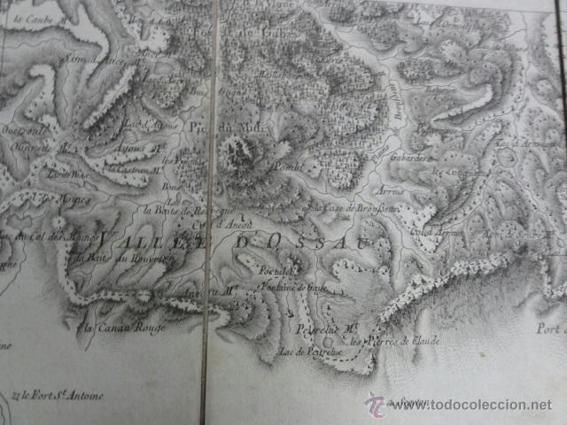 Mapas contemporáneos: Mapa pirineos franceses principios XIX - Foto 3 - 41561221