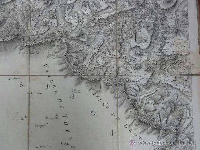 Mapas contemporáneos: Mapa pirineos franceses principios XIX - Foto 4 - 41561221