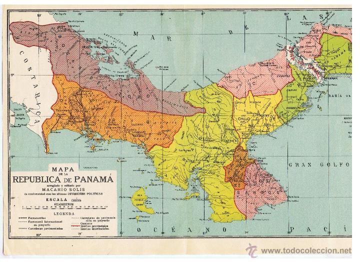 Mapa De La República De Panamá De Conformidad Kaufen