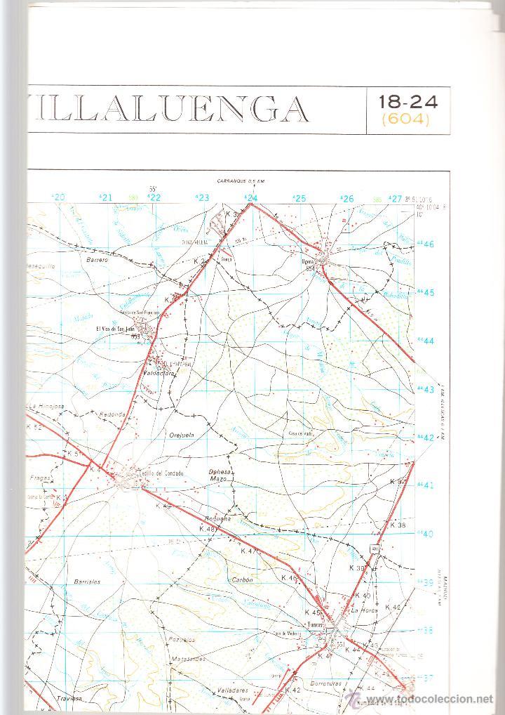 VILLALUENGA SERVICIO GEOGRÁFICO DEL EJÉRCITO 1ª EDICIÓN AÑO 1979 (Coleccionismo - Mapas - Mapas actuales (desde siglo XIX))
