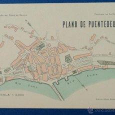 Mapas contemporáneos: GEOGRAFÍA DEL REINO DE GALICIA. PLANO DE PUENTEDEUME. 18 X 26 CM. 1936. Lote 42157235