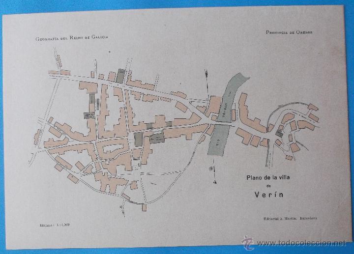 geografa del reino degalicia plano de la vill  Comprar Mapas