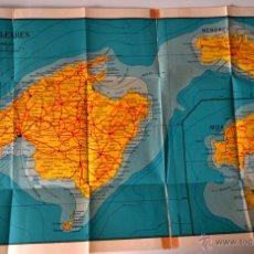 Mapas contemporáneos: MAPA DE LAS ISLAS BALEARES R. DOLCET * AÑOS 50 * CURIOSO ISLA INVENTADA . Lote 42494407