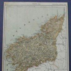 Mapas contemporáneos: MAPA GENERAL DE LA PROVINCIA DE LA CORUÑA. CIRCA 1900. 29 X 21 CM. Lote 42502726