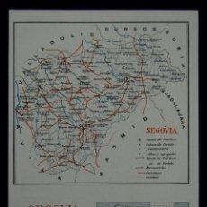 Mapas contemporáneos: MAPA DE LA PROVINCIA DE SEGOVIA. CON LA SUPERFICIE, POBLACIÓN... EN COLOR. AÑO 1930. Lote 42531469