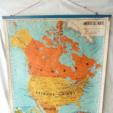 Mapas contemporáneos: MAPA ESCOLAR DE AMÉRICA DEL NORTE / EDITORIAL SEIX BARRAL S.A. / 1970. Lote 42681919