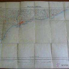 Mapas contemporáneos: MAPA SOBRE TELA. TARRAGONA. INSTITUTO GEOGRÁFICO Y CATASTRAL. PRIMERA EDICIÓN, 1925.. Lote 42847288